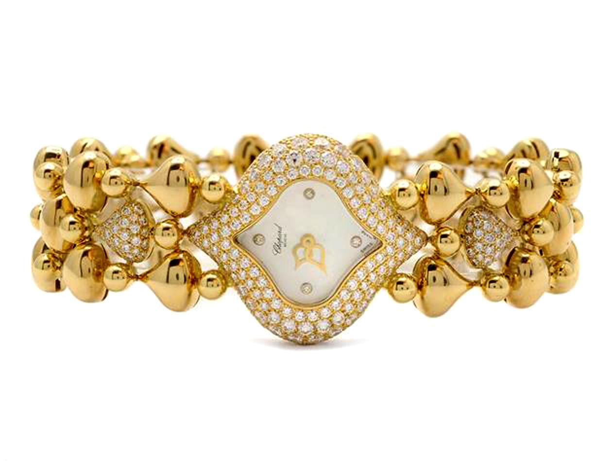 Chopard Pushkin Diamond Watch Bracelet 18K in > Watches > Jewelry